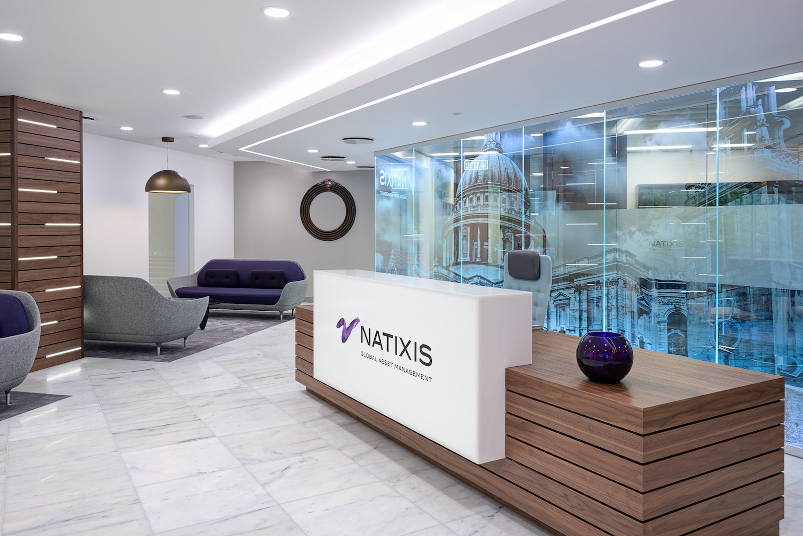 Natixis Office Reception Design Image