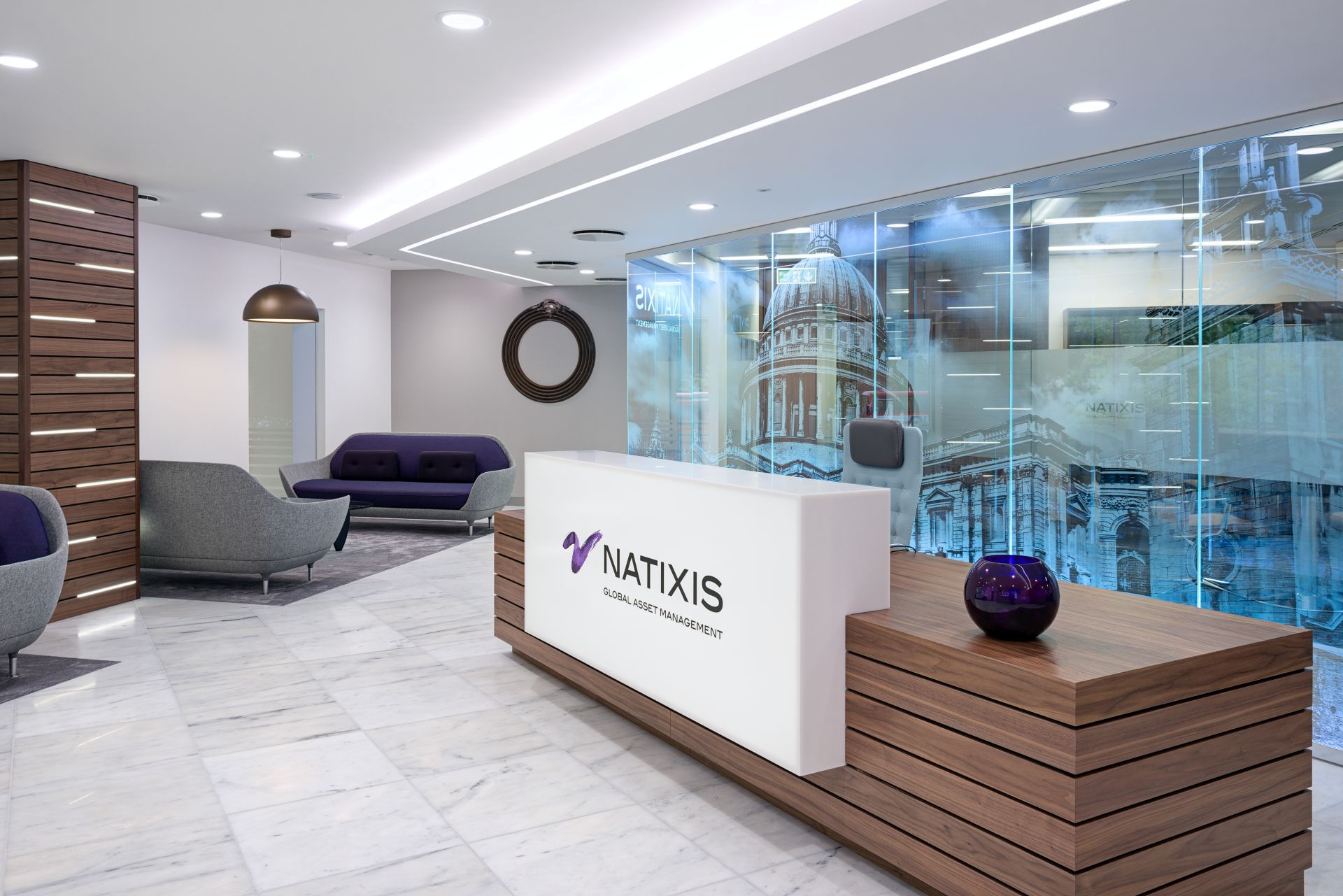 Natixis BCO Award Winning Office Reception Design Image