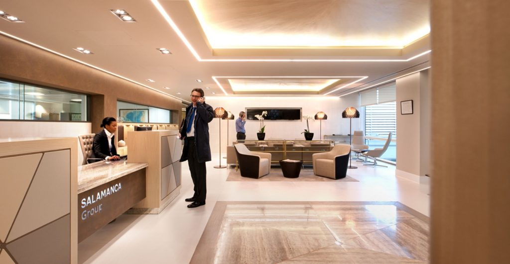 office reception design ideas interactive space